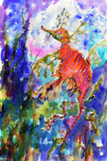 Sea Dragon Wonderland Print by Ginette Fine Art LLC Ginette Callaway