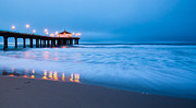 Peaceful Scenery Originals - Sea Foam at Manhattan Beach  by Adam Pender