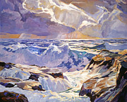 Popular Paintings - Sea Foam Green by David Lloyd Glover