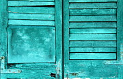 Weathered Shutters Framed Prints - Sea Foam Shutters Framed Print by Ed Smith