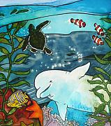 Sealife Mixed Media - Sea Fun by Jill Iversen