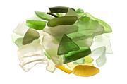 Kelly Metal Prints - Sea glass Metal Print by Fabrizio Troiani