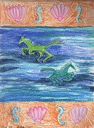 Seahorses Originals - Sea Horses by Sushila Burgess