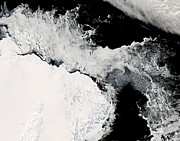 Oceanic View Prints - Sea Ice In The Southern Ocean Print by Stocktrek Images