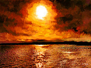 Johnny Trippick Prints - Sea Loch Sunset Print by Johnny Trippick