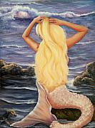 Mermaid Paintings - Sea Maiden by Joni McPherson
