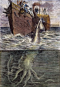 Harpoon Prints - Sea Monster Print by Granger