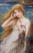 Maiden Acrylic Prints - Sea Nymph Acrylic Print by William Robert Symonds