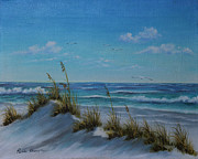 Sand Dunes Paintings - Sea Oats by Rosie Brown