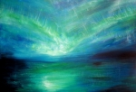 Europe Drawings Originals - Sea Of Aurora by Mike Grubb