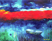 Presence Painting Originals - Sea of Galilee after the storm by Noga Ami-rav