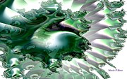 Whale Digital Art - Sea of the Emerald Whale by Maria Urso - Artist and Photographer