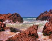 Chris Smith - Sea On Rocks in Byron...