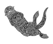 Scuba Drawings - Sea Otter by Carol Lynne