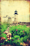 New England Lighthouse Prints - Sea Side Print by Darren Fisher