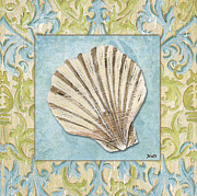 Shells Prints - Sea Spa Bath 1 Print by Debbie DeWitt
