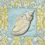 Sea Shells Painting Posters - Sea Spa Bath 2 Poster by Debbie DeWitt