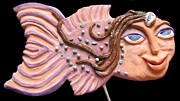 Fairies Ceramics - Sea Sprite - Arabelle by Judy  Hensley