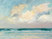 Shore Painting Metal Prints - Sea Study - Morning Metal Print by AS Stokes
