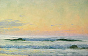 Setting Sun Paintings - Sea Study by AS Stokes
