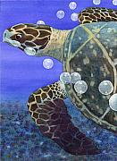 Reptiles Painting Prints - Sea Turtle Print by Catherine G McElroy