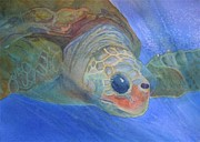 Green Sea Turtle Painting Metal Prints - Sea Turtle III Metal Print by Dee Durbin