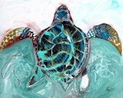 Baby Sea Turtle Framed Prints - Sea Turtle Three Framed Print by J Vincent Scarpace