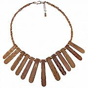 Handcrafted Jewelry Originals - Sea Urchin Collar Necklace  by Karen Elizabeth Bauguess