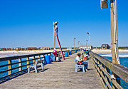 Sea View Art - Sea View Fishing Pier by Betsy A Cutler East Coast Barrier Islands