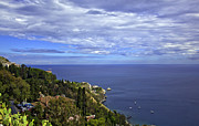 Mediterranean Landscape Prints - Sea view from Taormina Print by Madeline Ellis