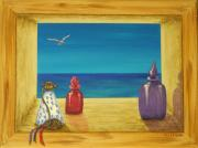 Perfume Painting Prints - Sea View One Print by Pamela Allegretto