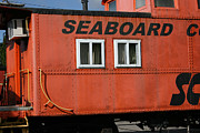 Caboose Framed Prints - Seabord Framed Print by Tila Gun