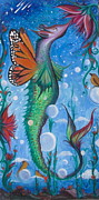 Sea Dragon Paintings - Seadragon by Elizabeth Zaikowski