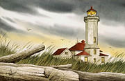 Lighthouse Art Paintings - Seafarers Sentinel by James Williamson