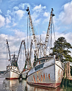 Shrimp Boat Prints - Seafood Searchers Print by Mike Covington