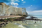Seaford Photo Framed Prints - Seaford Cliffs Framed Print by Donald Davis