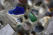 Mosaic Mixed Media - Seaglass Shells Rocks by Anne Babineau