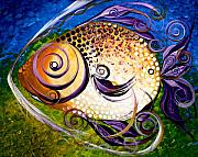 Tropical Fish Paintings - Seagrass and Sultry Non-Subtlety by J Vincent Scarpace