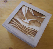 Flying Seagull Pyrography - Seagull Box by Ilaria Andreucci