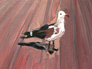 Boardwalk Paintings - Seagull by Patricia Awapara