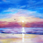 Jennifer  Blenkinsopp - Seagulls At Sunset