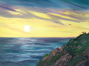 Laura Iverson - Seagulls at Sunset