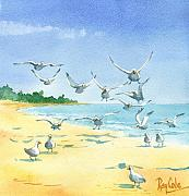 Seagulls Print by Ray Cole