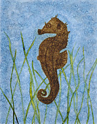 Kpappert Posters - Seahorse in Grasses Poster by Karen Pappert