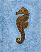 Karenpappert Framed Prints - Seahorse Framed Print by Karen Pappert