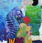 Lisa Kramer Mixed Media - Seahorse Surprise by Lisa Kramer