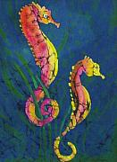 Science Fiction Tapestries - Textiles - Seahorses by Kay Shaffer