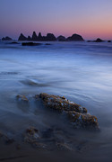 Seastacks Acrylic Prints - Seal Rock Glow Acrylic Print by Mike  Dawson