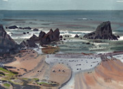 Plein Air Originals - Seal Rock Oregon by Donald Maier