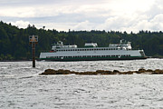 Passenger Ferry Prints - Sealth FerryBoat Rich Passage Print by Kym Backland